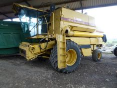 Combine Harvester New Holland TX36 Reg G917KWA 4421 hours c/w New Holland 20 ft header
