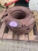Tractor wheel inner weight