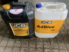 JCB hyd fluid and JCB ad blue