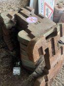 8 x John Deere tractor weights