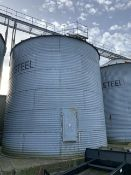 Westel 200T grain silo with aeration flo
