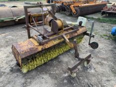 Tractor mounted rotating sweeper