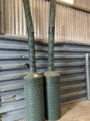 2 x plastic grain aerators