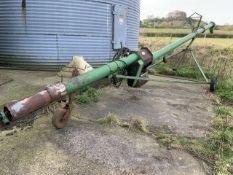 "37ft grain auger 8"" diameter three phase on wheels"