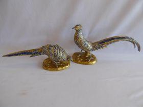 Pair Vista Allegre pheasant figures