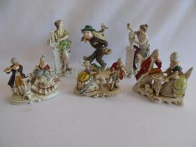 Continental musician group figures etc (6)