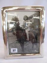 "Silver photograph frame - B'ham 1911 (for 8""x 6"")"