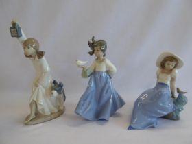 Nao girl figures (3)