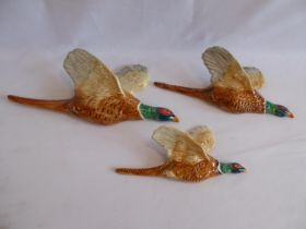 Beswick flying pheasant plaques (661 '1,'2,