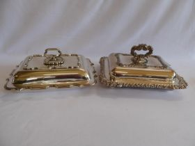 Silver plated tureens (2)