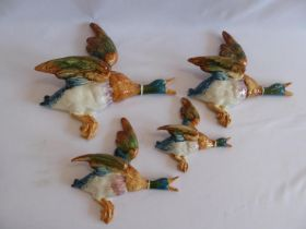 Beswick flying duck plaques (596 '1,'2,'3,