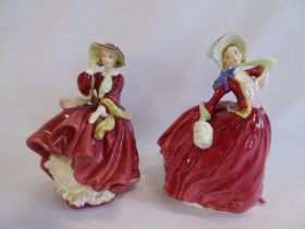 Royal Doulton ladies - 'Top o' the Hill' and 'Autumn Breezes' (2)