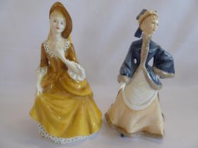 Royal Doulton 'Sandra' and Worcester 'Winters Morn' (2)