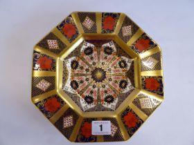"Royal Crown Derby Imari 1128 octagonal plate (9"" diameter)"