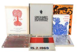 7 Bücher HAP Grieshaber Gedruckt für