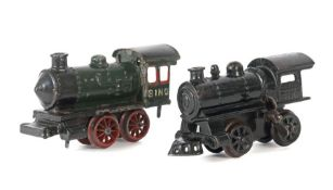 2 x Dampflok Bing, Spur 0, BZ 1927-29,