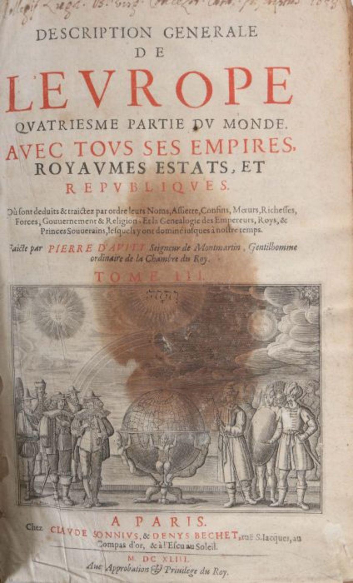 Avity, Pierre de Description generale - Image 5 of 5