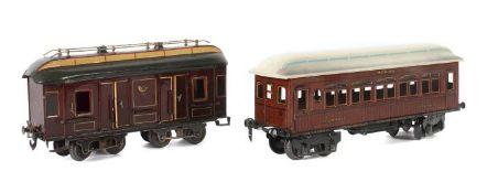 2 Wagen Märklin, Spur 1, 1 x Postwagen