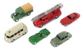 6 Modellfahrzeuge Märklin und Corci,