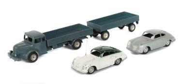 3 Modellautos Märklin, Guss/Blech, 1 x