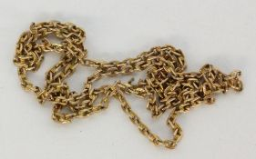 A NECKLACE 585/000 red gold. 48.5 cm long, approximately 6.8 grams. Clasp missing.