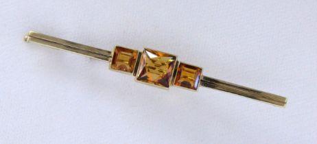 STABBROSCHE 585/000 Gelbgold mit 3