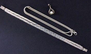LOT 3 TEILE SILBERSCHMUCK Armband,