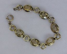 ARMBAND Silber vergoldet mit 6