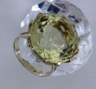 DAMENRING 585/000 Gelbgold mit Citrin.
