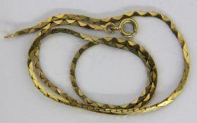 HALSKETTE 333/000 Gelbgold. L.39,5cm,
