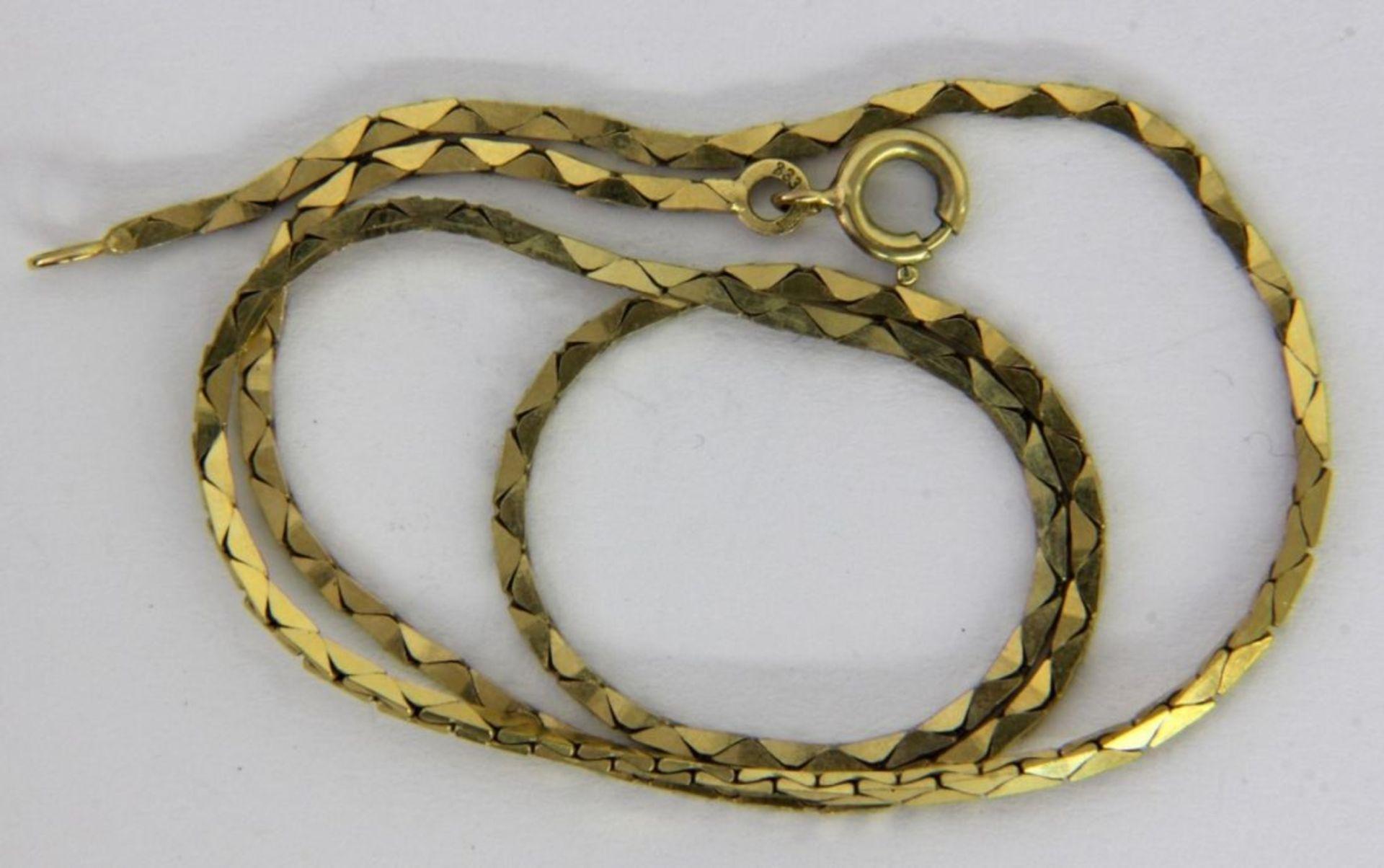 HALSKETTE 333/000 Gelbgold. L.39,5cm, - Bild 2 aus 2
