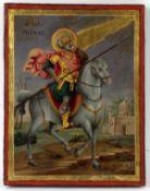 HEILIGER MINAS Griechische Ikone
