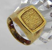 HERRENRING 585/000 Gelbgold mit