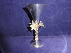 An Elizabeth II silver and silver gilt limited edition Commemorative Goblet, London 1977, by
