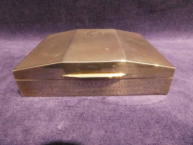 An Art Deco silver Cigarette Case, inscribed Blackburn Rovers Football Club Second Division