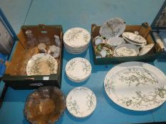 A quantity of 19thc tableware by Almonds and Son plus copper Fruit Bowl, Glassware and Commemorative
