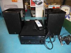 Yamaha DAB digital Radio/CD Player CRX-M170 and pair of Speakers