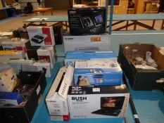 Five new Electronic items inc Epson Picture Maker, Bush 10' DVD Player, Canon Printer etc