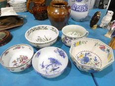 Portmeirion Fruit Bowl and Chamber Pot and 3 other Fruit Bowls inc Masons