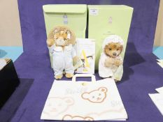Two Steiff Beatrix Potter Character Soft Toys, Tom Kitten and Mrs Tiggy Winkle both boxed circa
