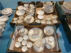 Three trays of Victorian Teaware comprising two part services