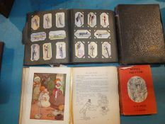 Two early 20thC Albums of Wills and Players Cigarette Cards and two Children's Books