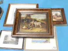 Five Small Pictures and Prints inc Edgar Hunt