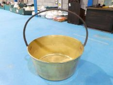 Brass Preserve Pan with rigid handle