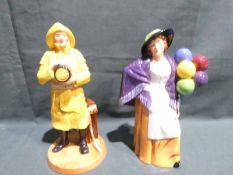 Royal Doulton HN4570, Lifeboat Man and HN2935, Balloon Lady