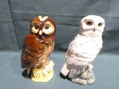 Royal Doulton Whyte and Mackay, Snowy Owl and Tawney Owl