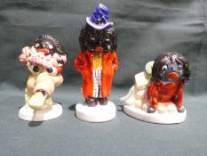 Three Carlton Ware limited edition hand painted bone china Character Figures: Dapper, Tiptoe through
