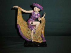 Martin Thompson for Kevin Francis, Art Deco Dancing Girl, Artists Original Proof, 25.5cm high