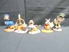 Five Royal Doulton Limited Edition Disney Character: Fantasia 2000 Sorcerers Apprentice, Pomp and