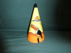 Lorna Bailey, a limited edition large Sugar Caster, conical shaper, decorated with a Toucan, 14/